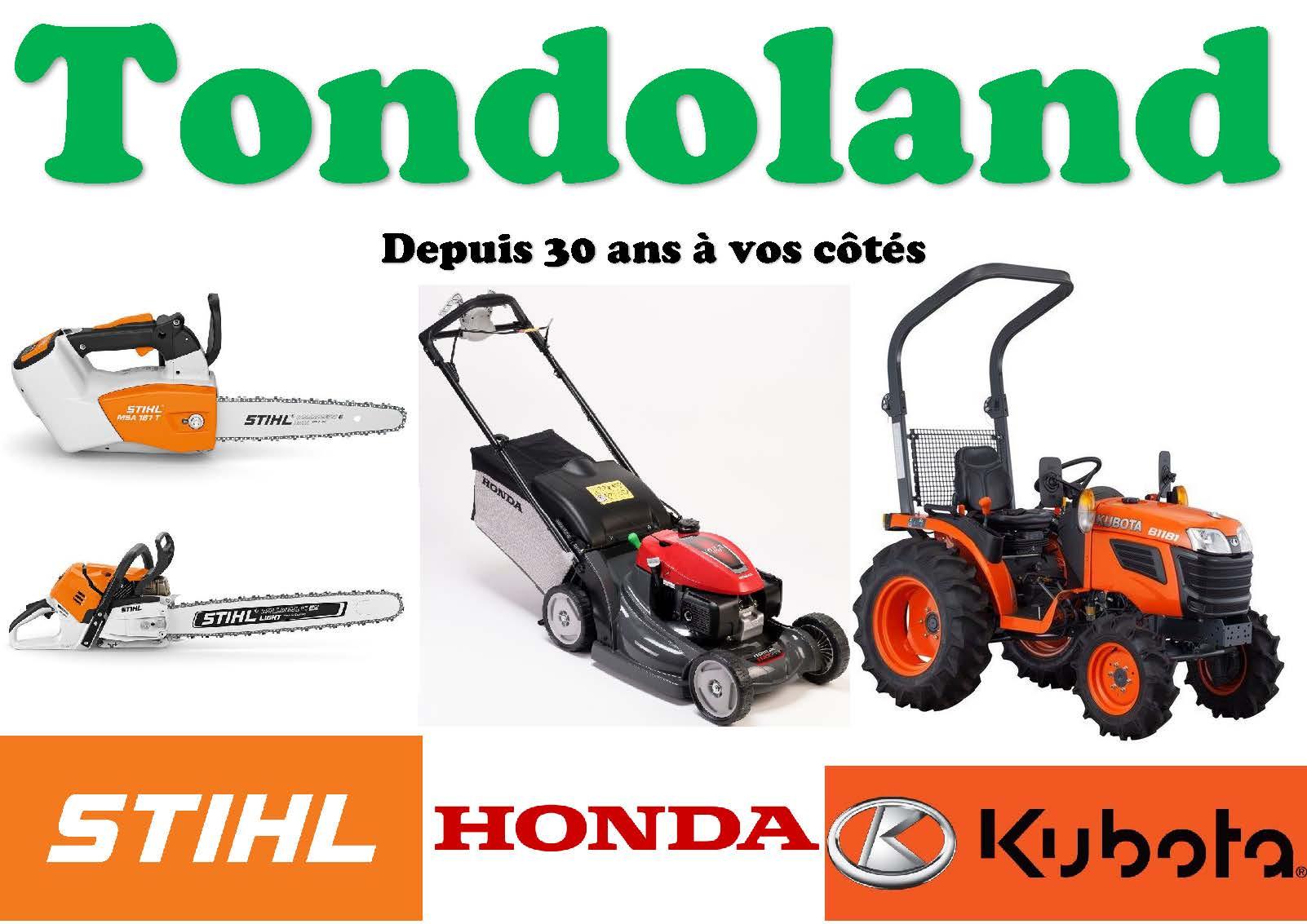 Les magasins Tondoland sont ouverts